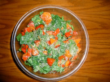 Lettuce and Persimmon Salad